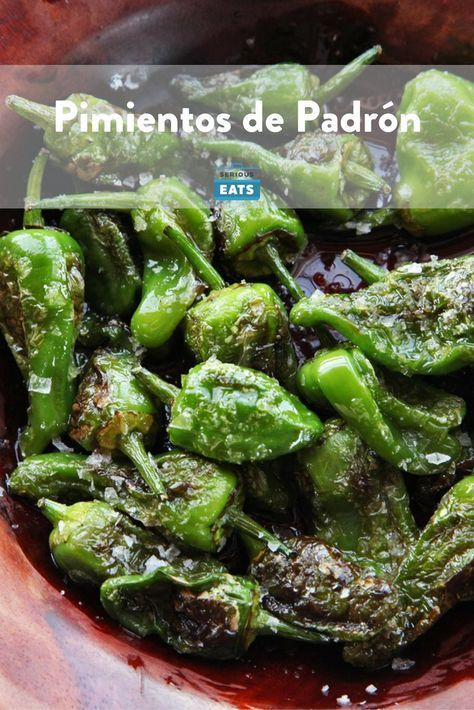 Pimientos de Padron are a classic Spanish appetizer. They are typically very mild, but every now and then somebody gets a spicy one! Check out this recipe to make your own. | devourtours.com