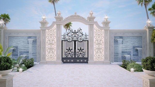 Luxury Villa Exteriors Design Abu Dhabi Luxury Exterior House Fence Design Home Gate Design