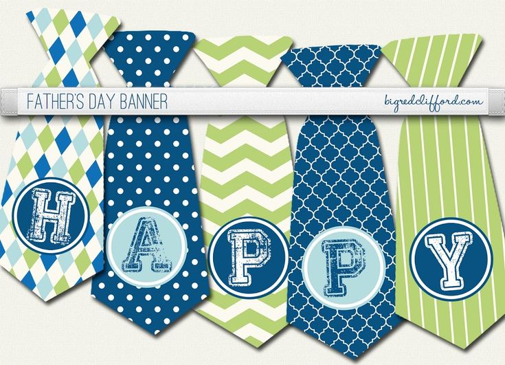 A few quick ideas for Father's day from around the web including a cute printable tie banner.