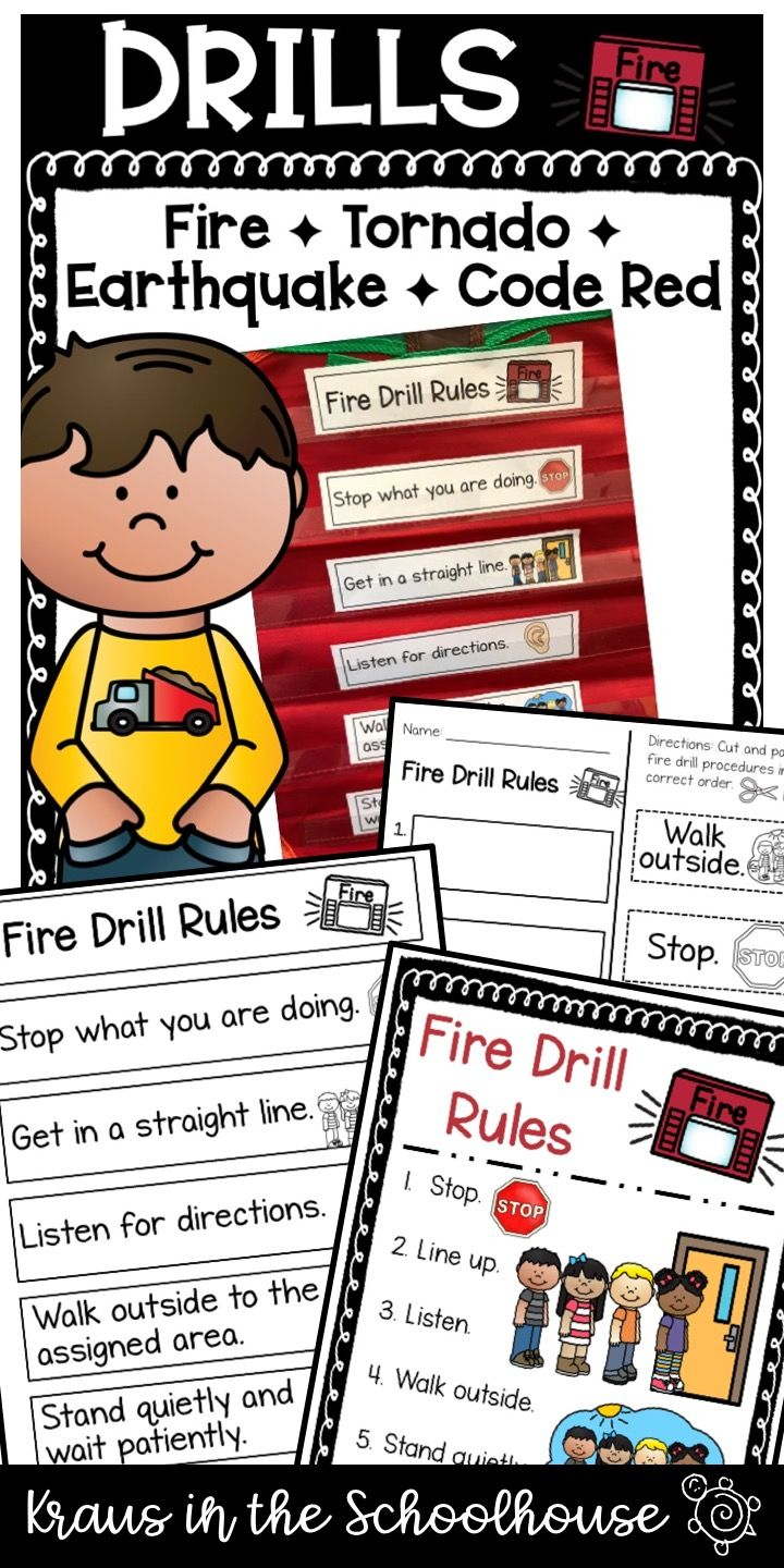 Safety Rules for Fire Tornado Earthquake Code Red Drills