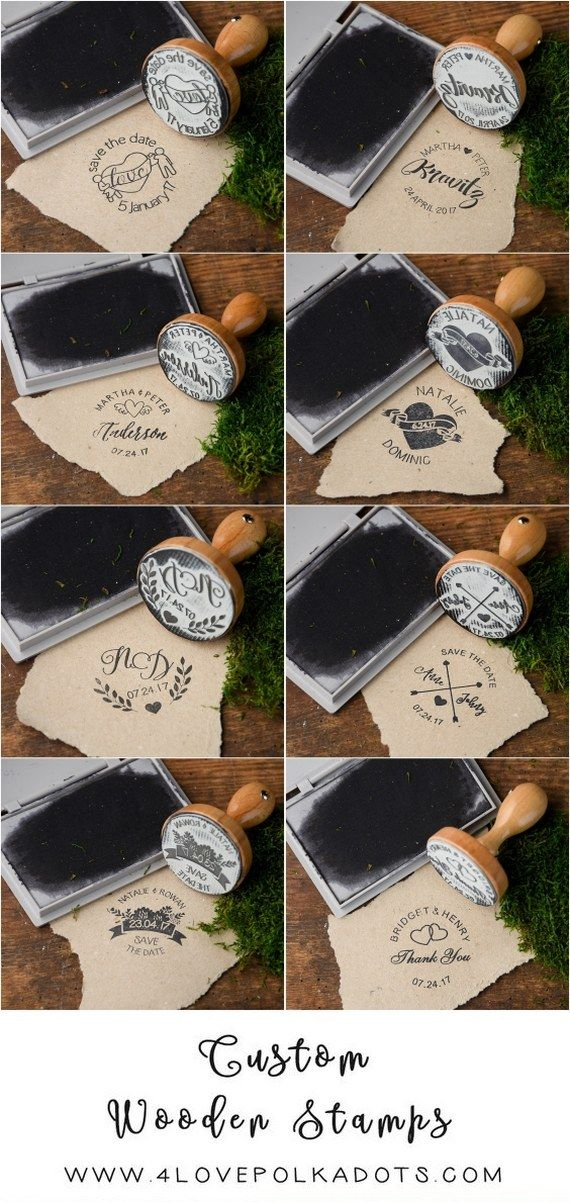 Rustic country wooden wedding stamps #rusticwedding #countrywedding #weddingideas