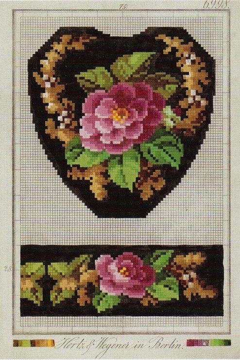 Slipper pattern. Camellias