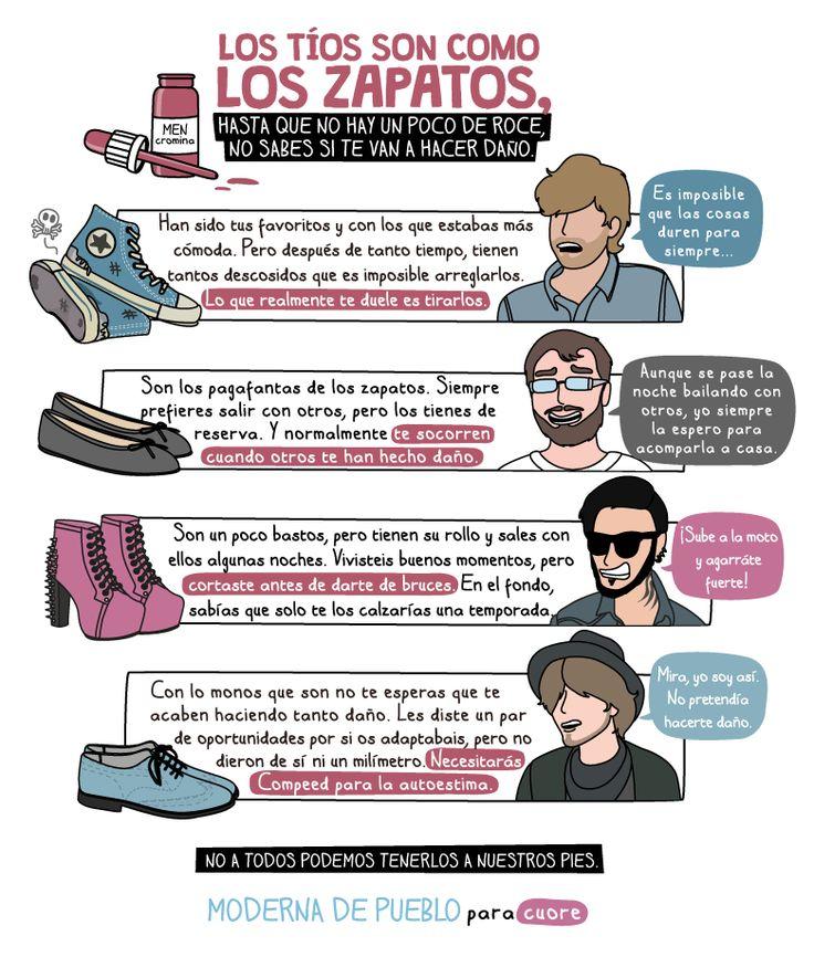 B1/C2 - Los tíos son como los zapatos... ¿Lo son? ¡Que no falte el sentido del humor, por favor! :-) De Raquel Córcoles (Moderna de Pueblo & El Cooltureta). http://www.modernadepueblo.com/los-tios-son-como-los-zapatos/