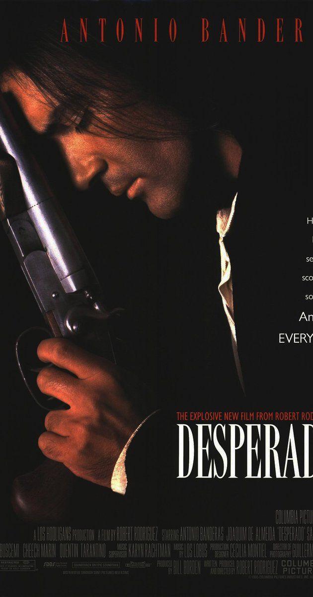 Directed by Robert Rodriguez.  With Antonio Banderas, Salma Hayek, Joaquim de Almeida, Cheech Marin. A gunslinger is embroiled in a war with a local drug runner.