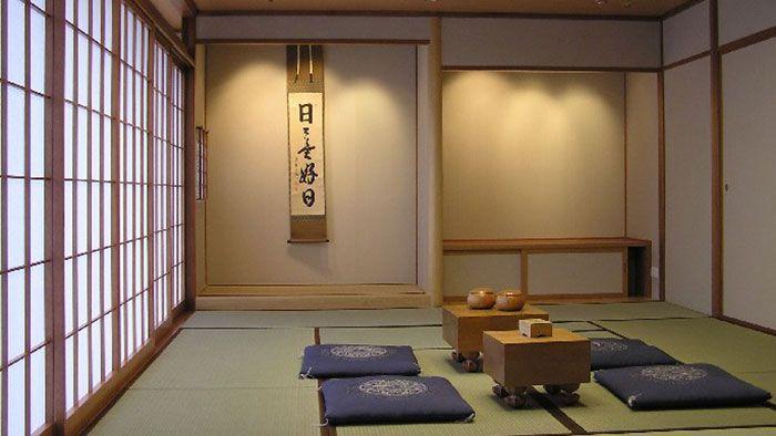 Japanese room set with go shoji tables traditional for Tea room interior design ideas