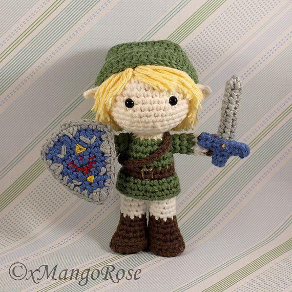 Link Amigurumi Doll Plush from Legend of Zelda Geek by xMangoRose
