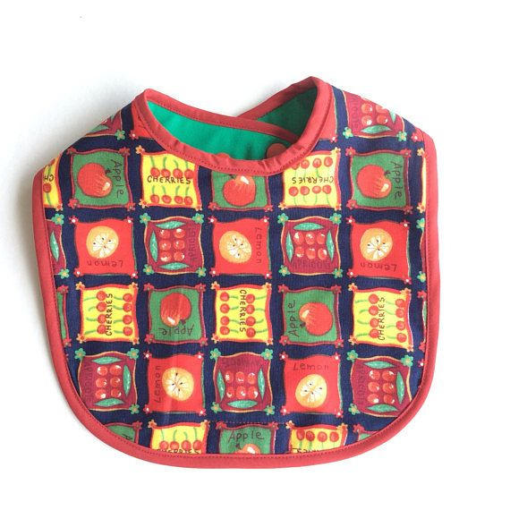 Baby bib / unisex baby clothes / dribble catcher / traditional