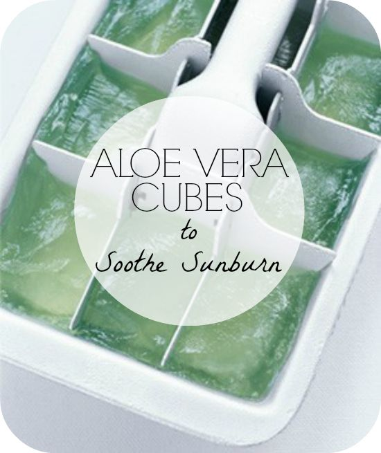 Look at this Genius #Sunburn Cooler Soother Recipe! Freeze #aloe in an icetray you don't use anymore #the_dumbbelle via @goodhousemag