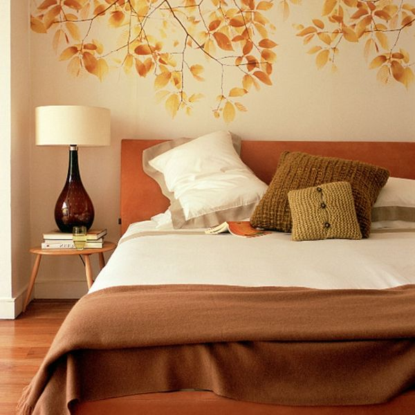 75 best images about schlafzimmer on pinterest | wooden headboards ... - Schlafzimmer Wand Orange