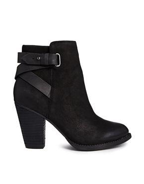 Image 1 ofALDO Salazie Leather Heeled Ankle Boots