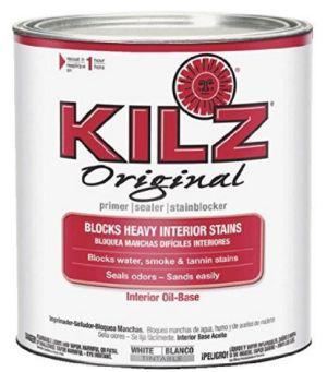 Kilz oil-based primer to fix bleeding through when painting furniture