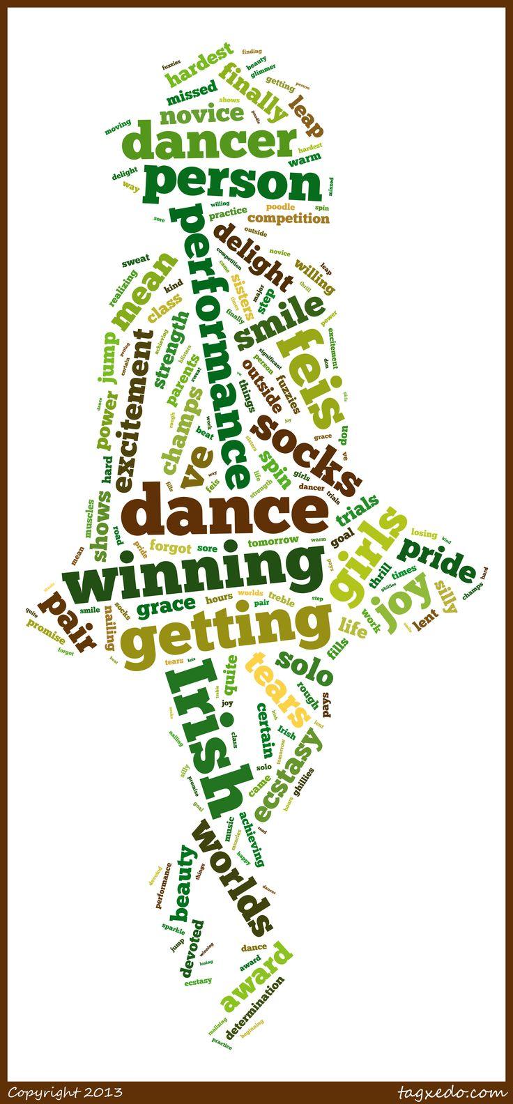 Irish dance from http://www.tagxedo.com/