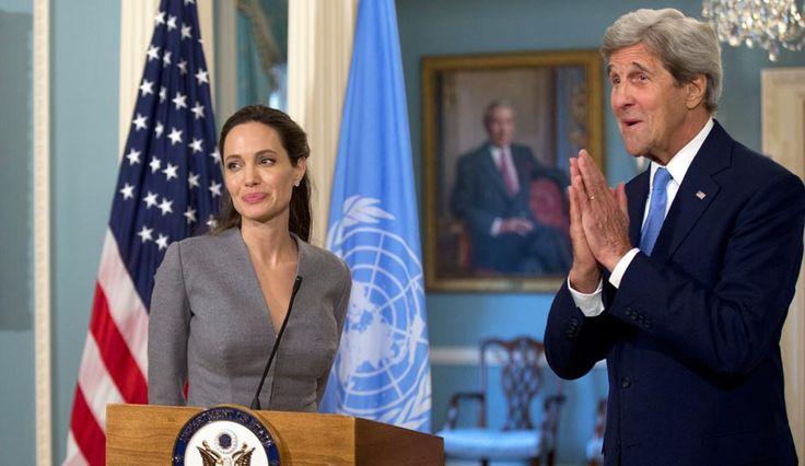 Angelina Jolie Pitt Met Up With John Kerry On World Refugee Day 2016 .. http://www.inquisitr.com/3228408/angelina-jolie-pitt-met-up-with-john-kerry-on-world-refugee-day-2016/