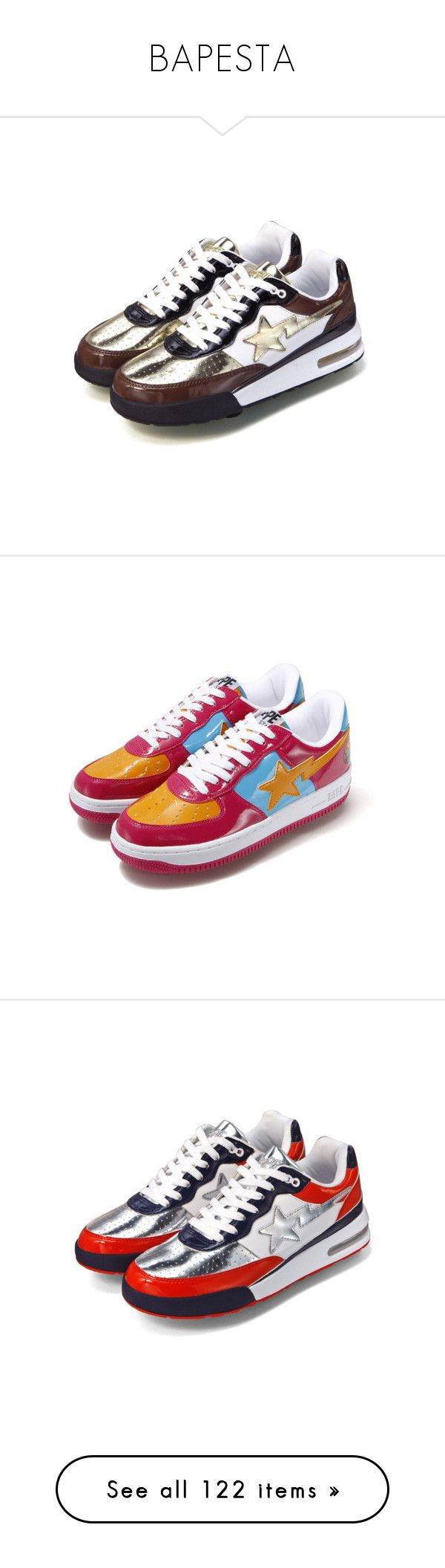 """""""BAPESTA"""" by a4styled ❤ liked on Polyvore featuring a bathing ape, home, home decor, summer footwear, checkerboard shoes, polka dot sandals, checkered shoes, summer shoes, shoes and bright colored shoes"""