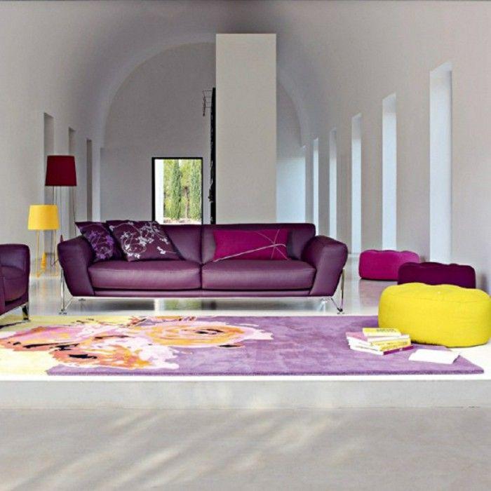 Decode Tips Living Room Yellow Purple Floor Lamp Wohnzimmer
