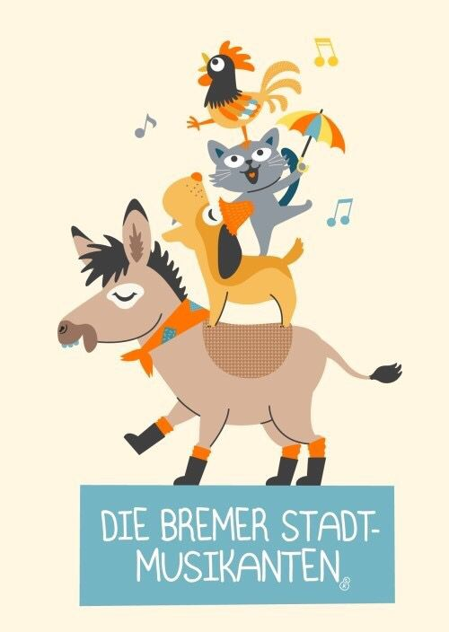 Die Bremer Stadtmusikanten / The town musicians of Bremen _ by Sopi Kyung
