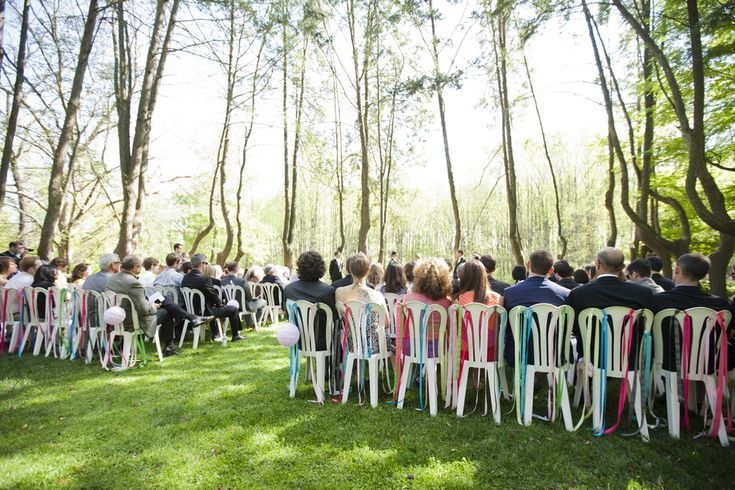 Ribbon Ceremony Chair Decor