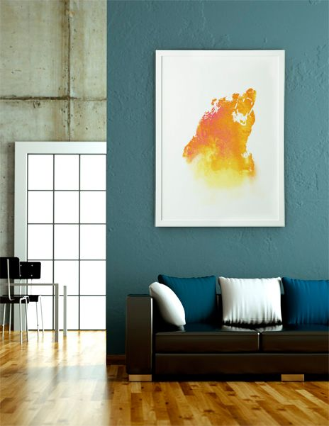 """Hear Me Roar"", Fine Art Print by Fimbis - From $25.00 - Curioos   #fimbis #Curioos #bear #animal #colorful #style #styleblog #fashion #fashionblogger #fashionblog #styleblogger #animals #designer #wild #wildlife #nature #natural #vibrant #interior #inspirational #fblogger #collage #homedecor #homestyle #wallart #geometric #orange #interiordesign #interiors #homedecor"