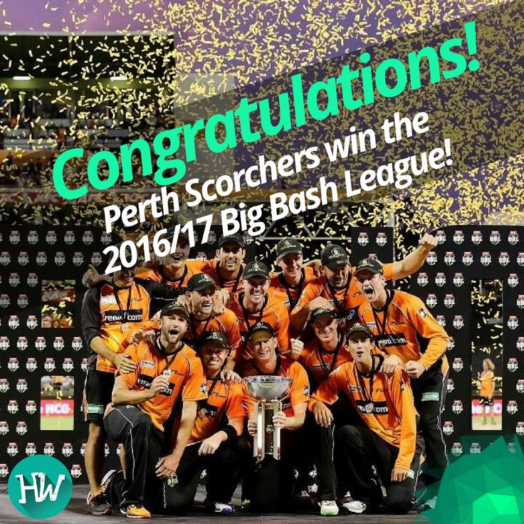 And that brings an end to an incredible edition of the Big Bash League. Perth Scorchers take the #BBL06 title! #cricket #bigbashleague #scorchers