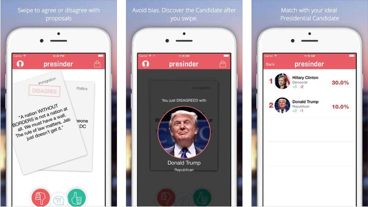 http://www.presinder.com - The concept as a direct Tinder spin-off, and as an app; Interactivity to learn, visual inspiration, more
