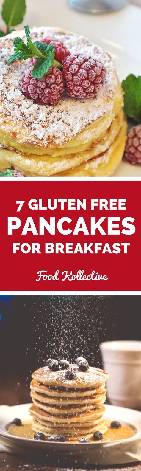 I was searching for gluten free pancakes and these look really tasty! There are recipes for gluten free pumpkin pancakes, gluten free chocolate chip pancakes, gluten free blueberry pancakes, and more! These would be great for a sweet breakfast or brunch. Collected on http://FoodKollective.com