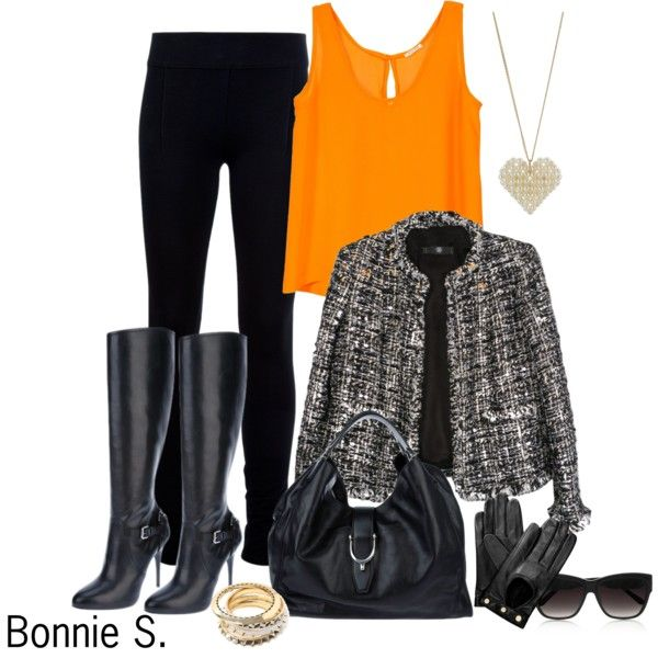 """""""a little color in a sea of black"""" by bonnaroosky on Polyvore: Color"""