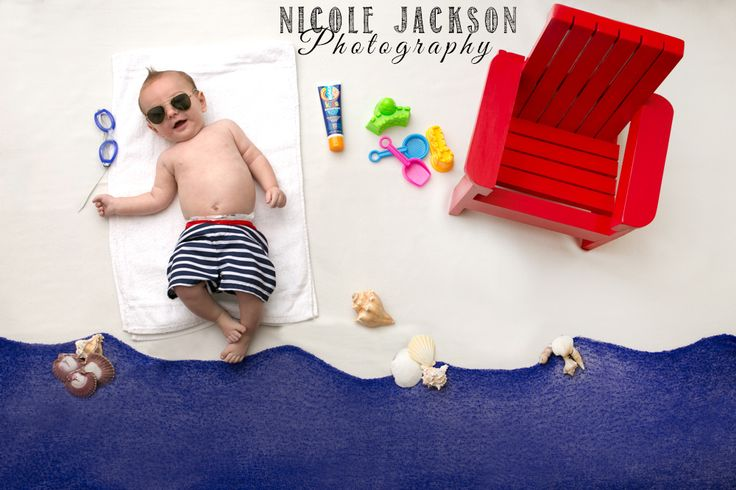 Seriously handsome Jeremiah visiting the beach at Nicole Jackson Photography
