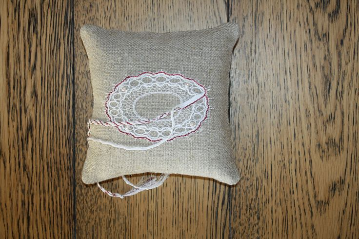 Ring Bearer Pillow Handmade bobbinlace / Ring cushion  /Wedding Ring cushion / Wedding pillow / Rustic / Cottage style Weddings by luxurybobbinlace on Etsy