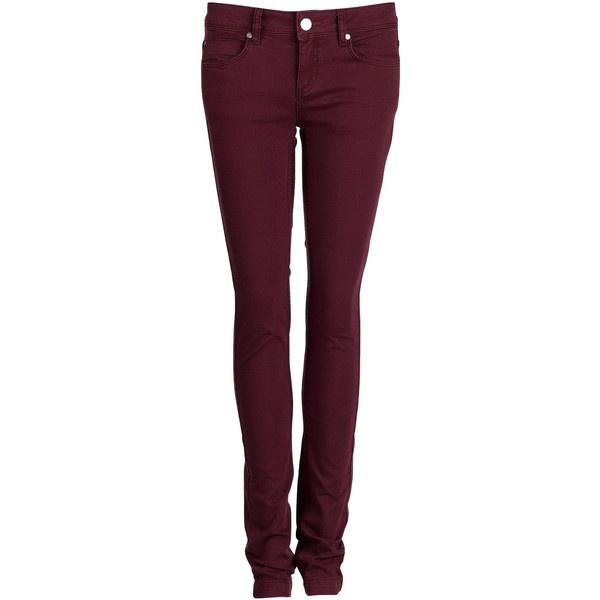 EKYOG Jean slim Violet ($100) ❤ liked on Polyvore