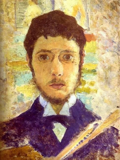 Self-portrait (c. 1889), tempera on canvas, private collection. Bonnard74 - Pierre Bonnard - Wikipedia, the free encyclopedia