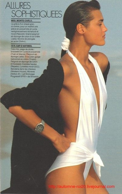Yasmin Le Bon,by Gilles Bensimon 1985 French Elle