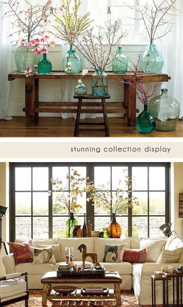 5 Ideas for decorating with recycled glass jugs and vases