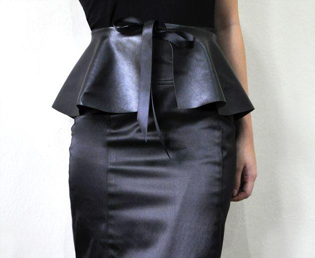 """How to Draft a Peplum: This is a """"no sew"""" method, but the drafting technique for the peplum is the same for sewing."""