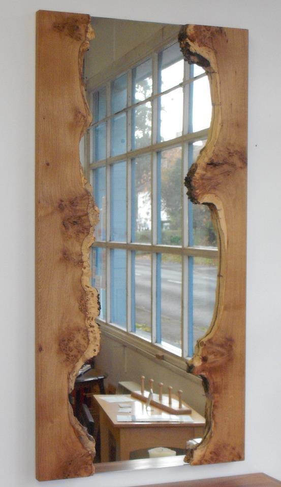 Pippy Oak Waney Edge Mirror Just Love It Horndean