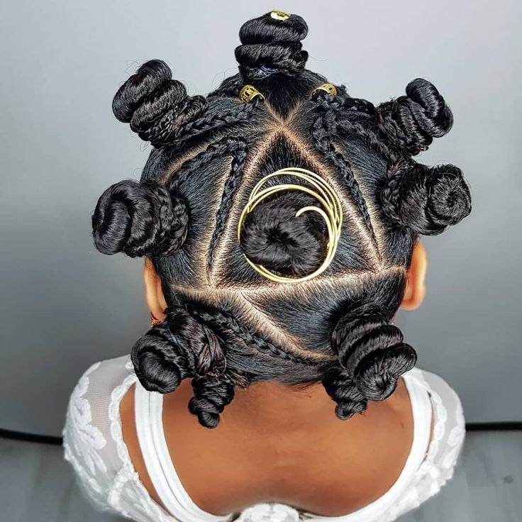 Bantuknots- hairstyles for curly little girls