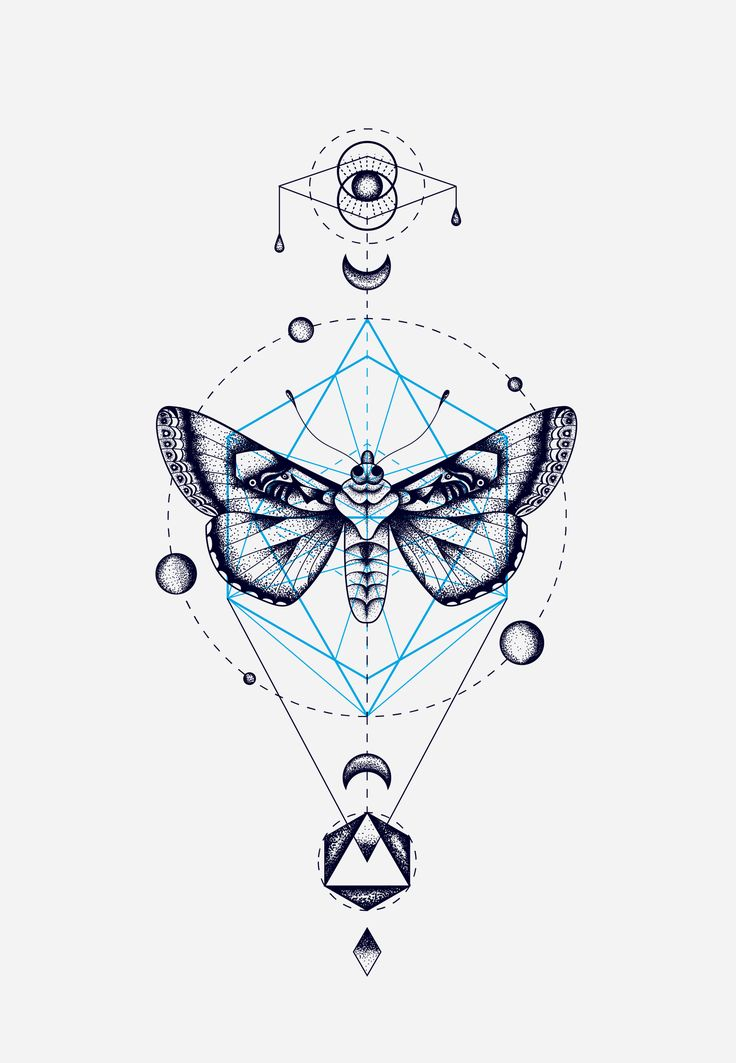 MOTH GEOMETRIC TOTEM                                                                                                                                                      More