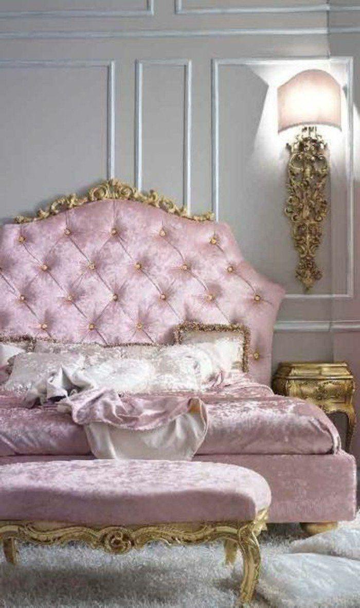 1000 id es sur le th me chambre baroque sur pinterest baroque moderne chai - Lit style romantique ...