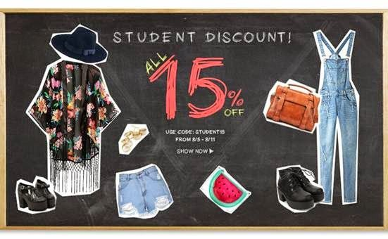 Blog by Flora: Student Discount Sale