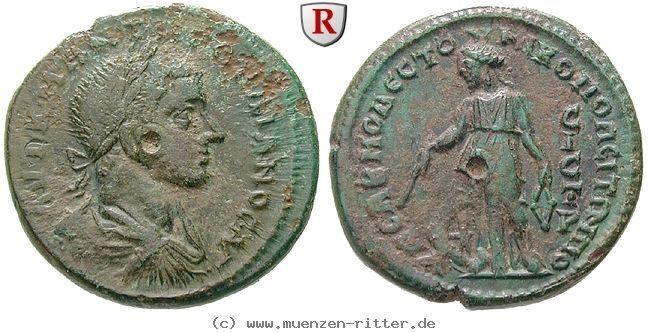 RITTER Moesia Inferior, Nikopolis am Istros, Elagabal, Nemesis #coins