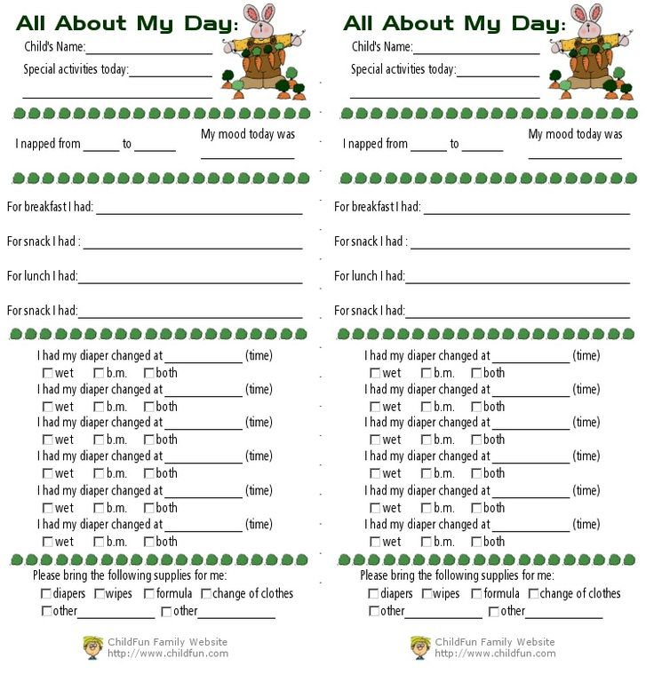 15 best Daycare Forms images on Pinterest | Daycare forms, Babies ...