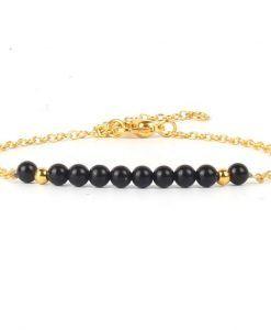 Bracelet jade noir