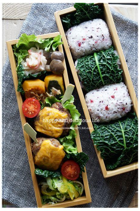 日本人のごはん/お弁当 Japanese meals/Bento おにぎり弁当