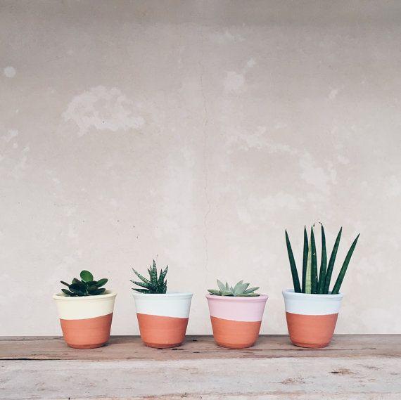 Ceramic planter succulent plant pot  handmade by AmenamenStudio