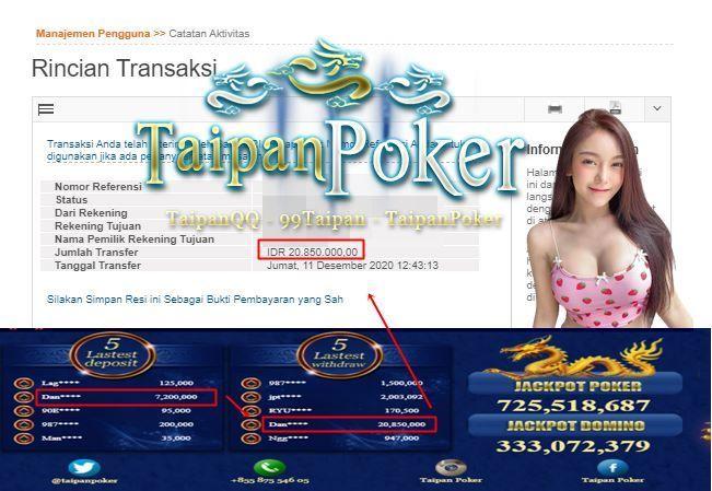 Taipan Poker Tanggal Hoki 11 Desember