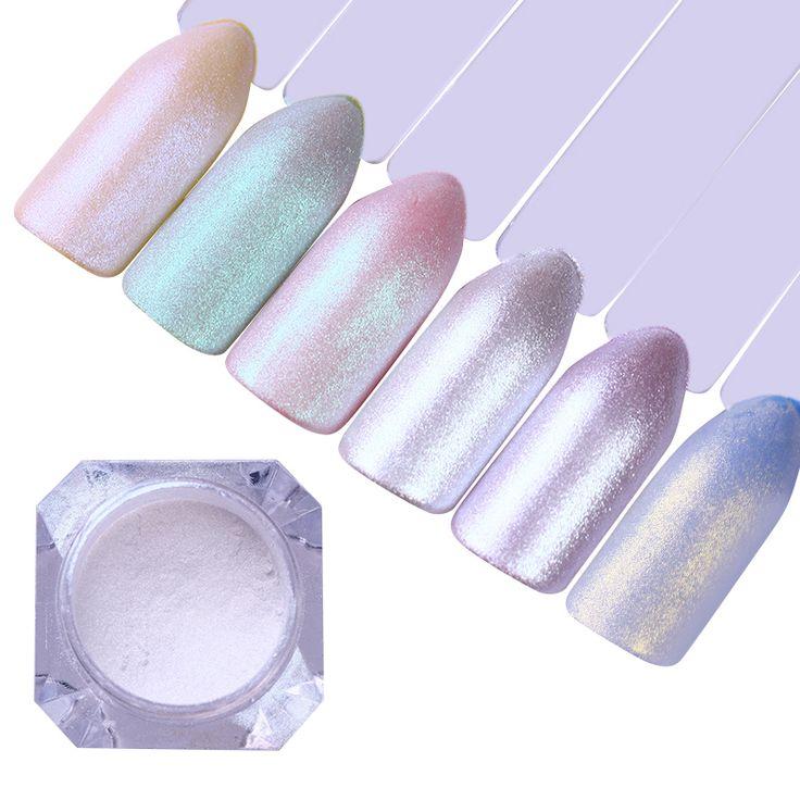 5Pcs Mermaid Pearl Nail Art Glitter Set Shiny Mirror Matte Shimmer Pigment Powder Dust DIY Manicure Nail Art Decoration UV Gel