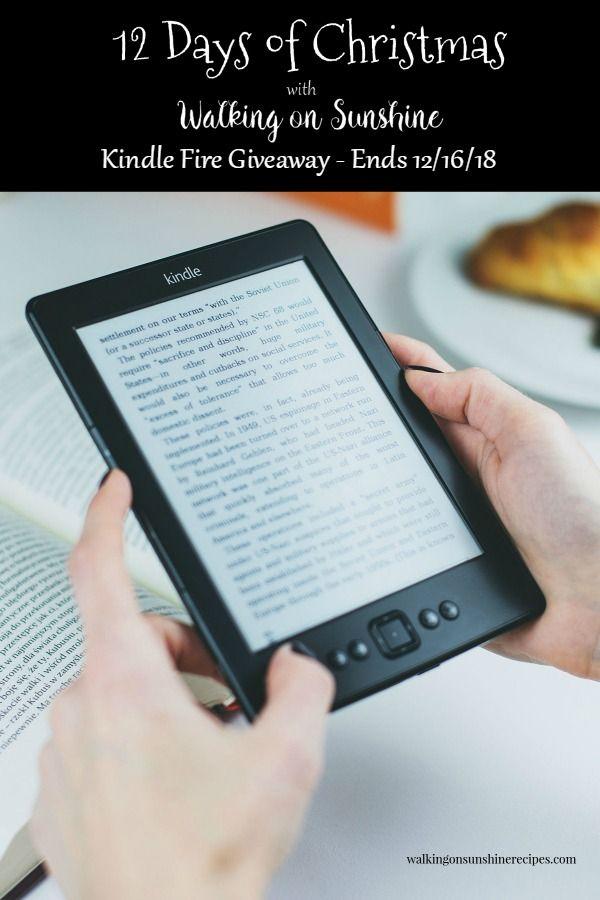 Kindle Fire Giveaway 12 Days Of Christmas Celebration Walking On Sunshine Recipes Kindle Unlimited Kindle Kindle Fire