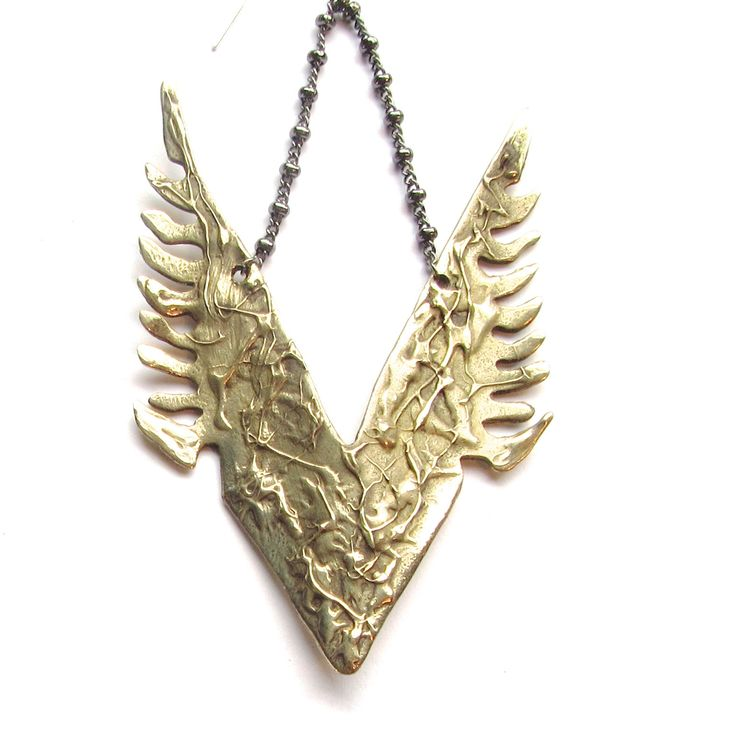 Fenix Pendant - Inspired by the Greek bird- Phoenix, this pendant is a reinterpretation of the bird that rises from the ashes to be reborn.