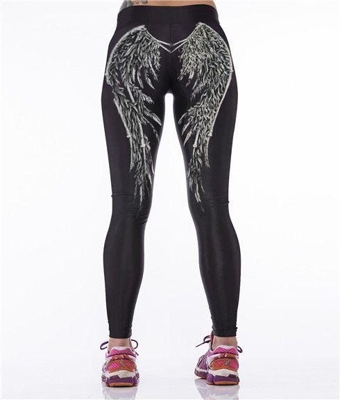 Европа прилив Йога жесткие спортивные и фитнес бег трусцой брюки впитывать влагу стрейч был тонкий брюки женская печать мультфильма - Taobao