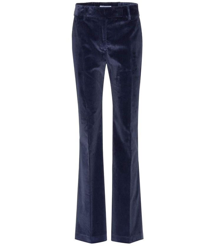 Pantalon en velours de coton bleu
