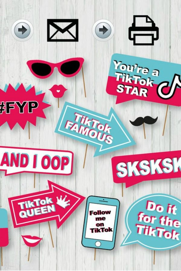Have Your Guests Grab Some Of These Cool Photo Booth Props And Fool Around With Them Photo Booth Props Birthday Diy Party Supplies Girls Birthday Party Themes